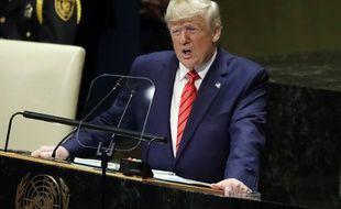 Donald Trump à la tribune de l'Assemblée générale des Nations unies, le 24 septembre 2019.