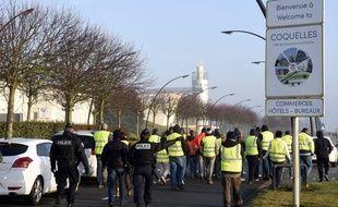 Illustration d'une manifestation de «gilets jaunes» à Calais., le 23 novembre 2018.