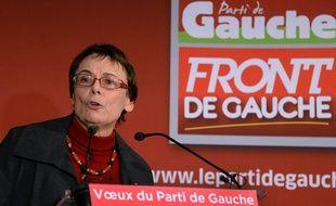 Martine Billard, lors des voeux du Front de gauche, le 16 janvier 2013 à Paris.