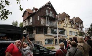 La villa dEmmanuel et Brigitte Macron (à g.) à Touquet, le 7 mai 2017