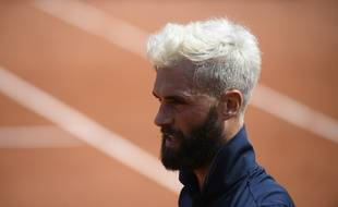 Benoit Paire during his match against Roberto Carballes Baena in Roland Garros stadium on monday may 28, 2018. Paris. France.