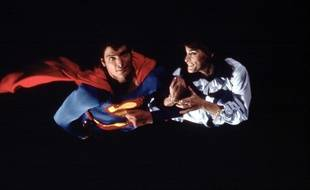 Margot Kidder avec Christopher Reeve dans le film «Superman», en 1978.