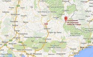 google map vallée de l'ubaye