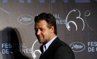 Russell Crowe à Cannes le 12 mai pour l'ouverture du festival.