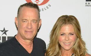 Le comédien Tom Hanks et son épouse, l'actrice et productrice Rita Wilson