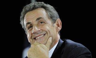 Nicolas Sarkozy à Saint-Julien-les-Villas le 2 octobre 2014.