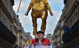 Jean-Marie Le Pen lors d'un rassemblement pour Jeanne d'Arc, le 1er mai 2017.
