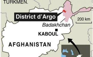 Localisation du glissement de terrain en Afghanistan