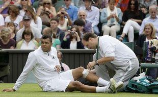 Jo-Wilfried Tsonga, le 26 juin 2013 à Wimbledon.