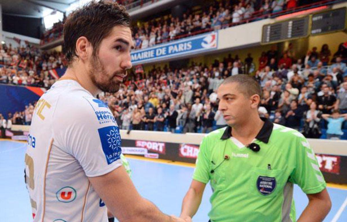 Nikola Karabatic après le match face au PSG handball, le 30 septembre 2012 – F.FIFE/AFP