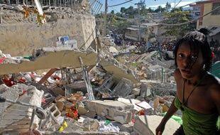 En 2010, lors du tremblement de terre en Hïti. Ici à Port-au-Prince.