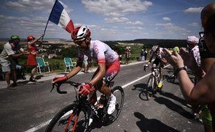 Stéphane Rossetto échappé lors de la troisième étape du Tour de France, le 8 juillet 2019.