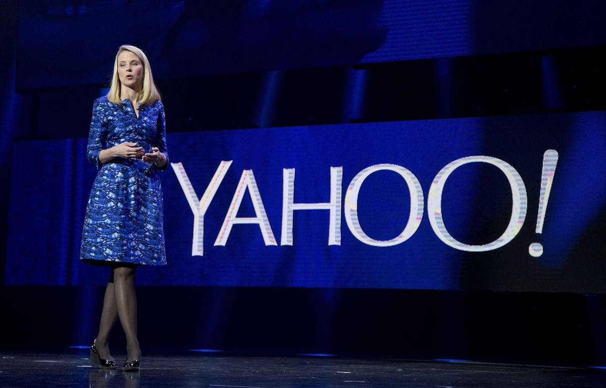 La PDG de Yahoo!, Marissa Mayer, le 7 janvier 2014 au CES de Las Vegas  –  Julie Jacobson/AP/SIPA