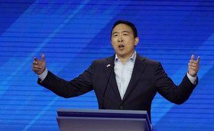 Le candidat démocrate Andrew Yang lors du troisième débat télévisé, le 12 septembre 2019.