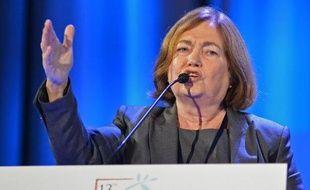 Mairead Maguire, lauréate du Prix Nobel de la paix en 1976, le 21 octobre 2013 à Varsovie