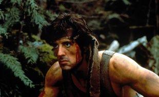 Sylvester Stallone dans le film «Rambo» en 1982.