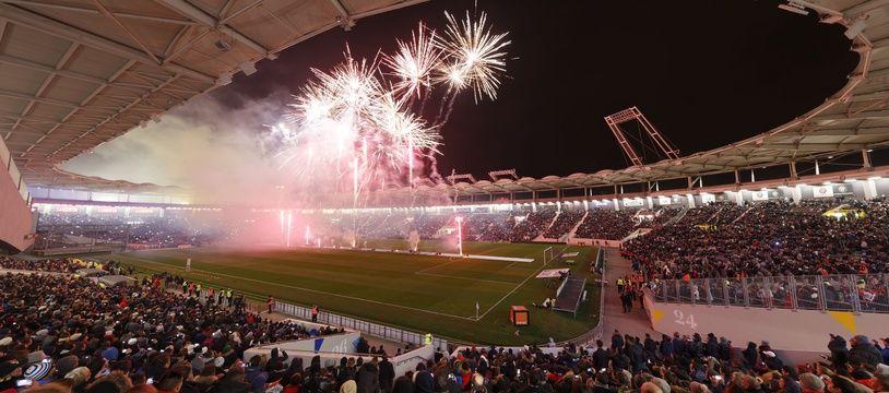 Le Stadium de Toulouse lors du premier match de L1 après les travaux en vue de l'Euro 2016, le 16 janvier 2016 entre le TFC et le Paris Saint-Germain.