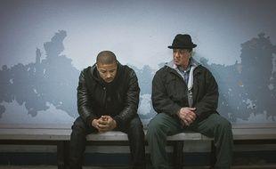 Michael B. Jordan et Sylvester Stallone dans Creed