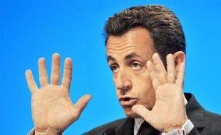 """Et si elle a assuré que ses propositions ne constituaient pas """"une déclaration de guerre"""" à la France, elles écornent malgré tout un peu plus les ambitions françaises, en douchant les espoirs de Nicolas Sarkozy de co-présider la nouvelle organisation les deux premières années. AFP PHOTO ALAIN JOCARD"""