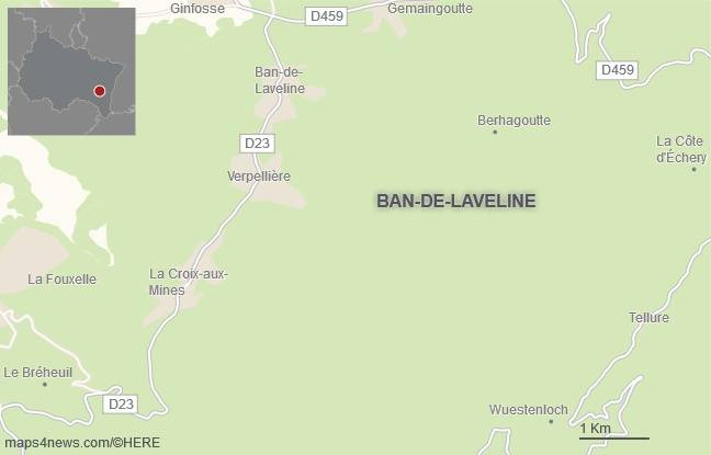 La commune de Ban-de-Laveline, dans les Vosges.
