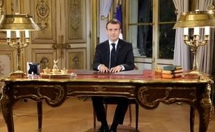 Emmanuel Macron lors de son allocution télévisée, le 10 décembre 2018.