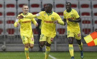 Jules Iloki heureux après son ouverture du score à Nice.