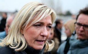 La présidente du Front national, Marine Le Pen, le 3 avril 2013, à Charleville-Mézières (Ardennes).