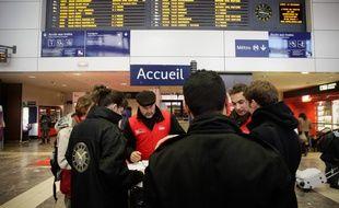Application des nouveaux horaires de la SNCF en gare Matabiau. 12/12/11 Toulouse
