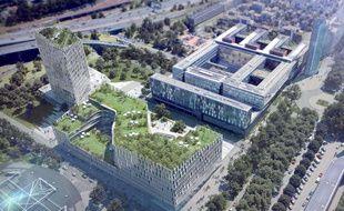 Le projet architectural pour l'Agence européenne du médicament à Lille.