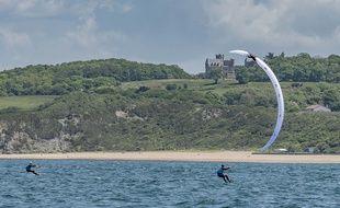 Illustration kite surf