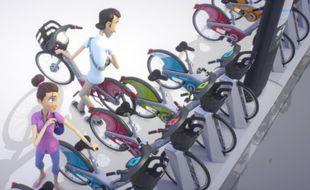 Les stations pourront accueillir deux fois plus de vélos grâce au système de « fourche cadenas » du Vélib' deuxième génération.