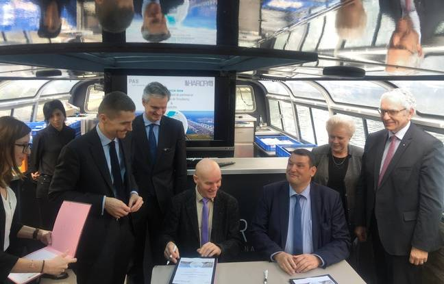 Signature d'un partenariat entre le PAS et HAROPA. Strasbourg le 11 janvier 2018.