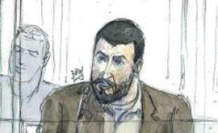 Croquis de Rachid Ramda,à son procès.