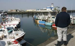 Illustration de bateaux de pêche, ici à Boulogne-sur-Mer.