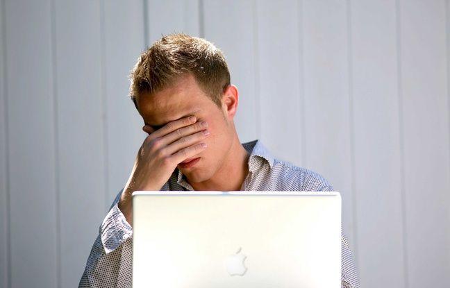 Illustration sur le stress et la dépression au travail.