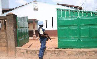 La mission de la Minusca à Bazanga, en Centrafrique, le 3 octobre 2015