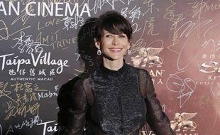 Sophie Marceau, sur le tapis rouge des Asian Film Awards à Macau, le 17 mars 2016.