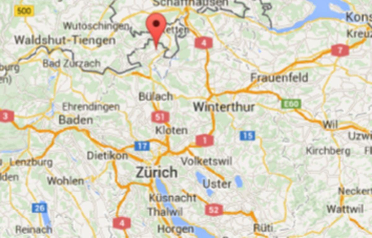 Google Map de Rafz, en Suisse, où a eu lieu la collision. – 20 Minutes