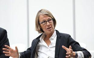 La ministre de la Culture Françoise Nyssen lors d'une conférence à La Rochelle en juin 2017.