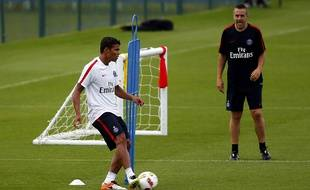 Thiago Silva à l'entraînement avec le PSG le 4 juillet 2016.
