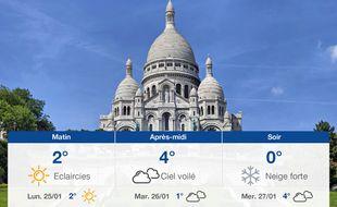 Météo Paris: Prévisions du dimanche 24 janvier 2021