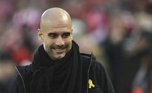 Pep Guardiola est un homme heureux.