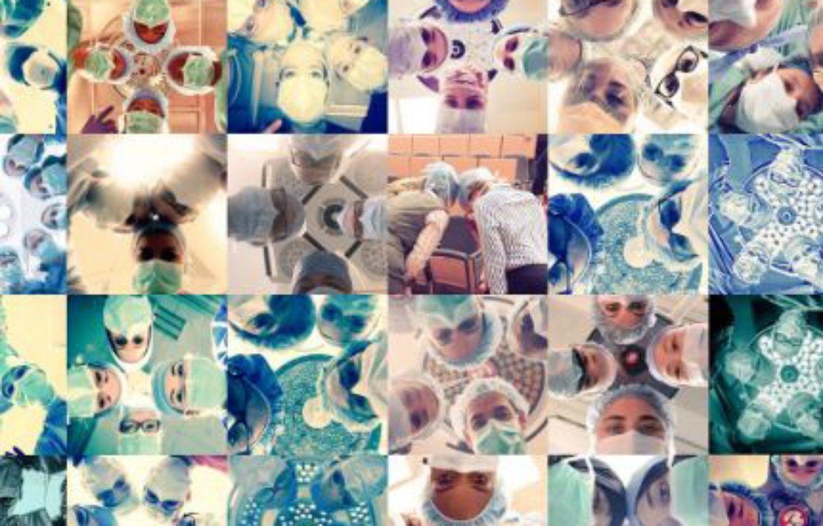 Capture d'écran des photos prises par des chirurgiennes du monde entier dans le cadre du projet #ILookLikeASurgeon. – TWITTER