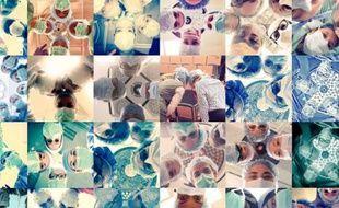 Capture d'écran des photos prises par des chirurgiennes du monde entier dans le cadre du projet #ILookLikeASurgeon.