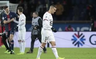Hatem Ben Arfa sous le maillot du Stade Rennais lors d'un match au Parc des Princes, le 27 janvier 2019.