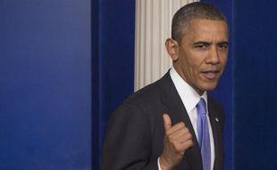 Barack Obama a exhorté jeudi ses adversaires à cesser d'avoir recours à des crises préjudiciables selon lui aux Etats-Unis, appelant les élus du Congrès à s'accorder sur un budget à long terme et une réforme de l'immigration.
