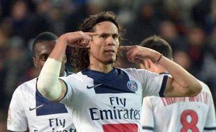 L'attaquant du PSGEdinsonCavani, le 14 décembre 2013, à Rennes.
