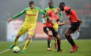 Rennes-Nantes, le match aller.