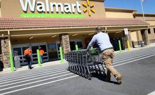 Un magasin du géant de la distribution Walmart le 19 février 2015 à Miami