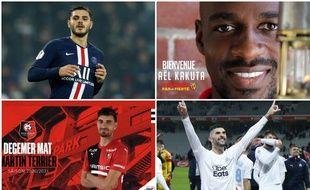 Icardi, Kakuta, Terrier et Alvaro ont animé la première partie de mercato en France.